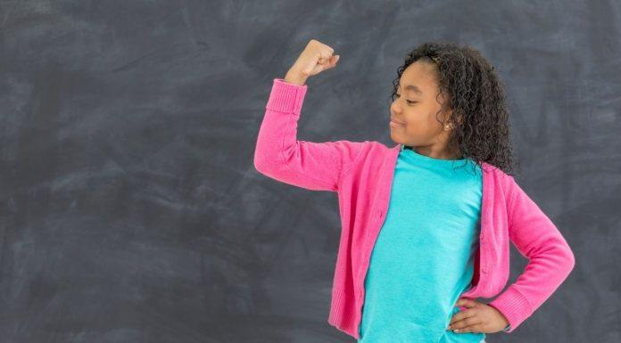 girl feeling empowered