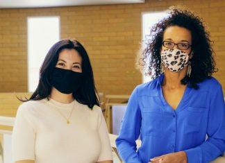 two teachers wearing masks