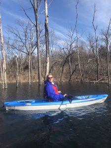 pic of julie in kayak