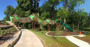 treetop canopy play area