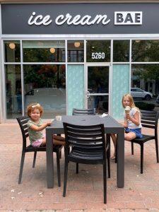 two girls having ice cream