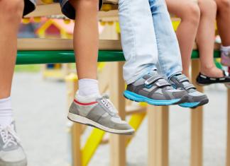 kids legs in a row